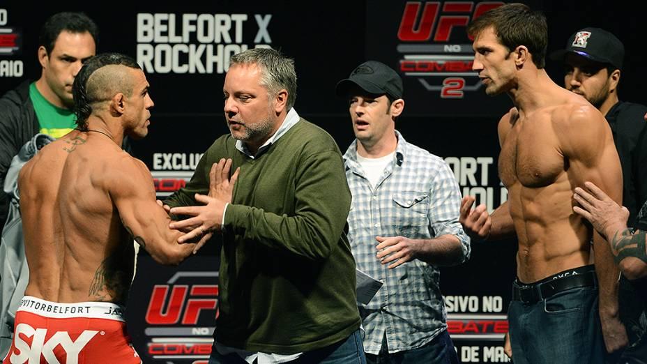 Vitor Belfort durante a pesagem do UFC Jaraguá do Sul em (SC)
