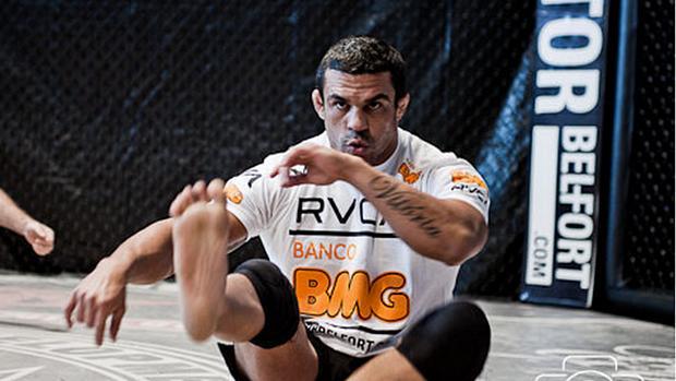Vitor Belfort, treinando em sua academia