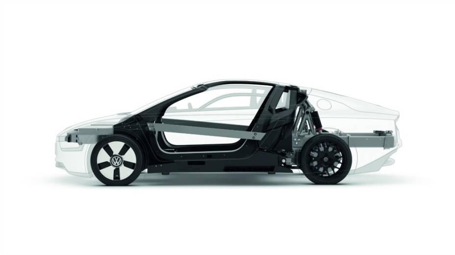 XL1 é um veículo híbrido do tipo plug-in e roda mais de 110 km com 1 litro de diesel