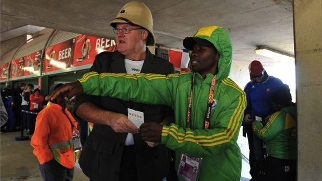 Voluntário na Copa do Mundo da África do Sul, em 2010