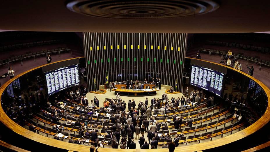 Sessão do Congresso Nacional para votar a manobra fiscal a que o governo recorreu para tentar fechar as contas deste ano