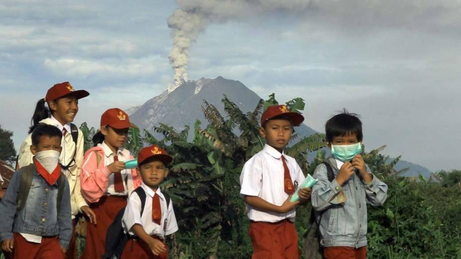 As aulas foram suspensas por causa das erupções