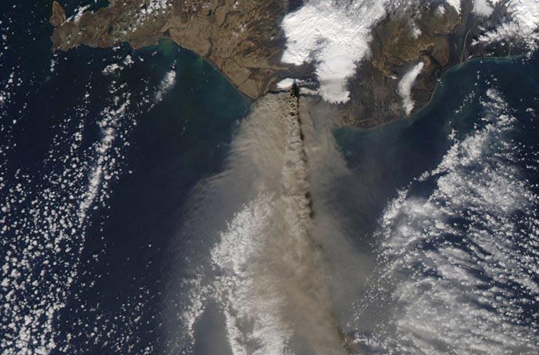 Imagem capturada por um satélite da NASA.