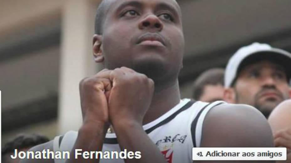 Jonathan Fernandes, um dos torcedores do Vasco presos depois da pancadaria em Joinville, também estava na briga com torcedores do Corinthians em Brasília, em agosto