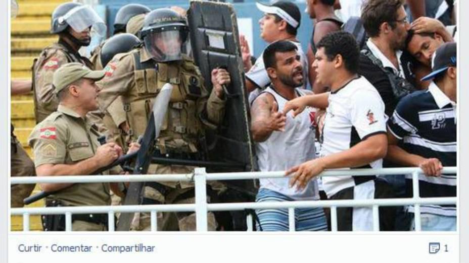 Sadraque Gomes, integrante da torcida do Vasco envolvido na pancadaria em Joinville