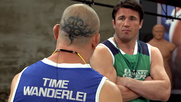 Wanderlei Silva e Chael Sonnen brigaram no TUF Brasil 3: bronca e mau exemplo