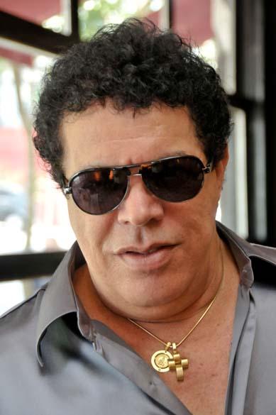 Cantor Wando em divulgação de campanha publicitária, em São Paulo