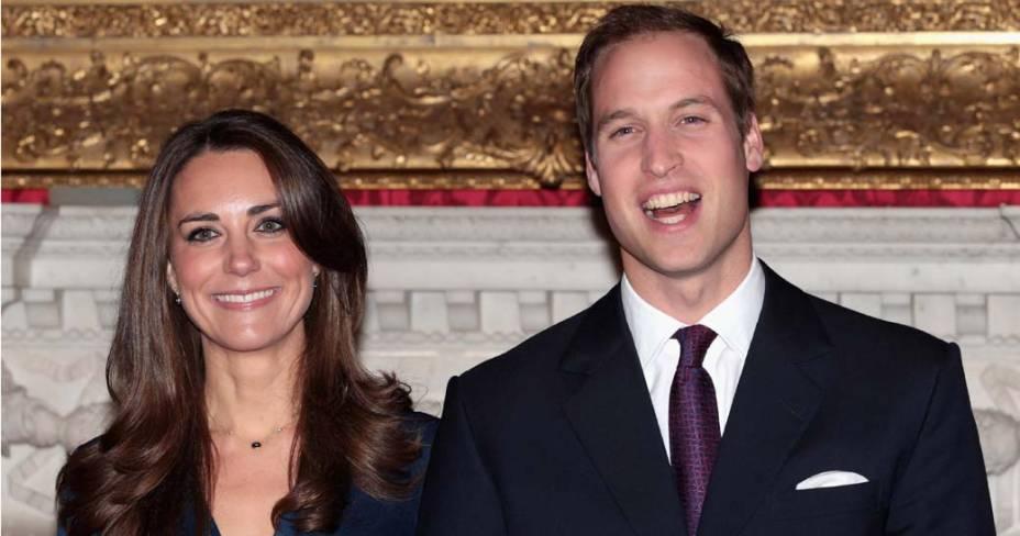 Príncipe William e Kate Middleton anunciam o noivado em Londres, 16 de novembro de 2010