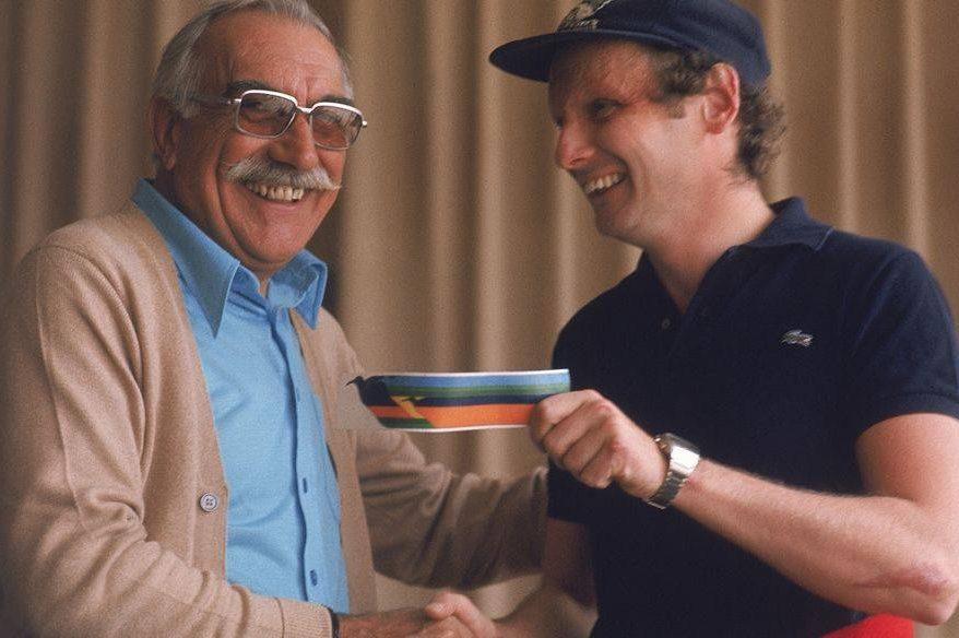 Wilson Fittipaldi com Niki Lauda
