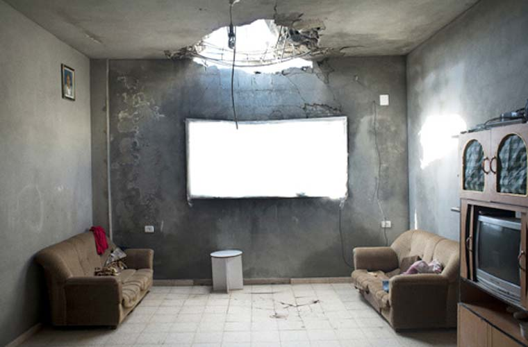 Na categoria Notícias Gerais - Foto Única, o prêmio foi para Kent Klich. Na imagem, a destruição na Faixa de Gaza.