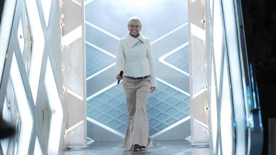 Xuxa durante o programa TV Xuxa, 2009