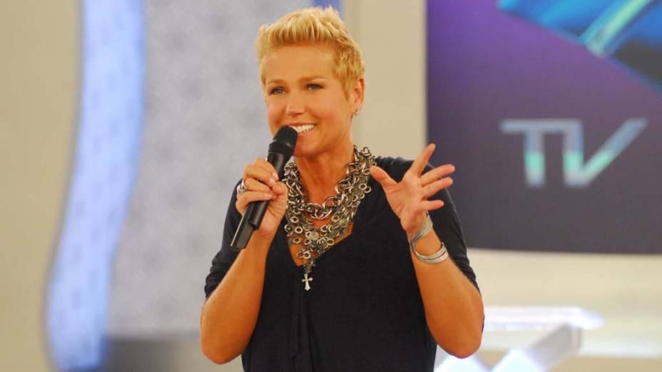 Xuxa durante o programa TV Xuxa, 2010