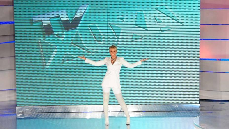 Xuxa durante o programa TV Xuxa, 2011