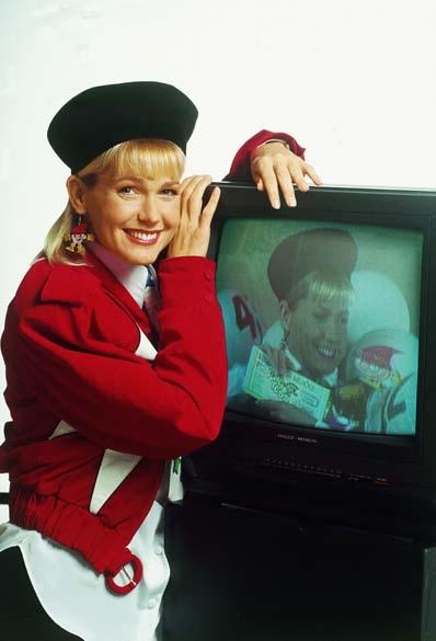 Xuxa com o figurino usado na gravação do comercial do Título de Capitalização Papatudo, 1993