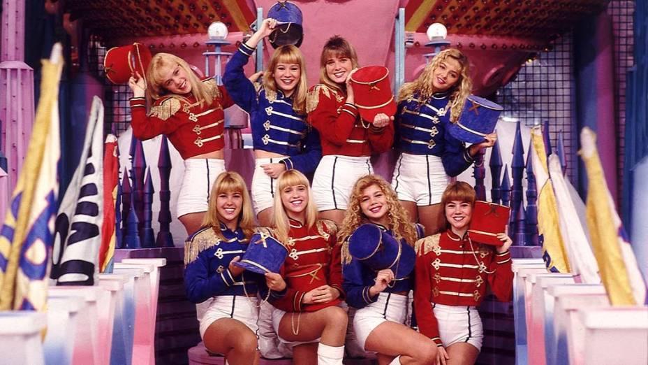Paquitas no programa Xou da Xuxa da Rede Globo, 1991