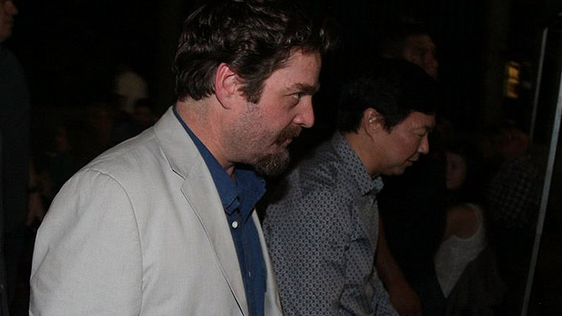Zach Galifianakis e Ken Jeong, que fazem os mais malucos da série, Alan e Chow, na Lapa, no Rio