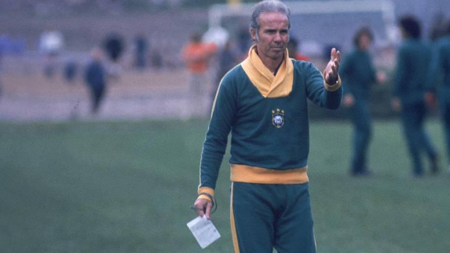 Zagallo treinou a seleção brasileira na Copa de 1974, na Alemanha