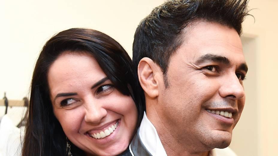 Zezé Di Camargo e a namorada Graciele