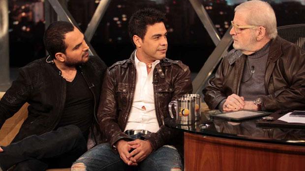 Zezé Di Camargo e Luciano em entrevista no Programa do Jô, depois de Luciano ameaçar deixar a dupla