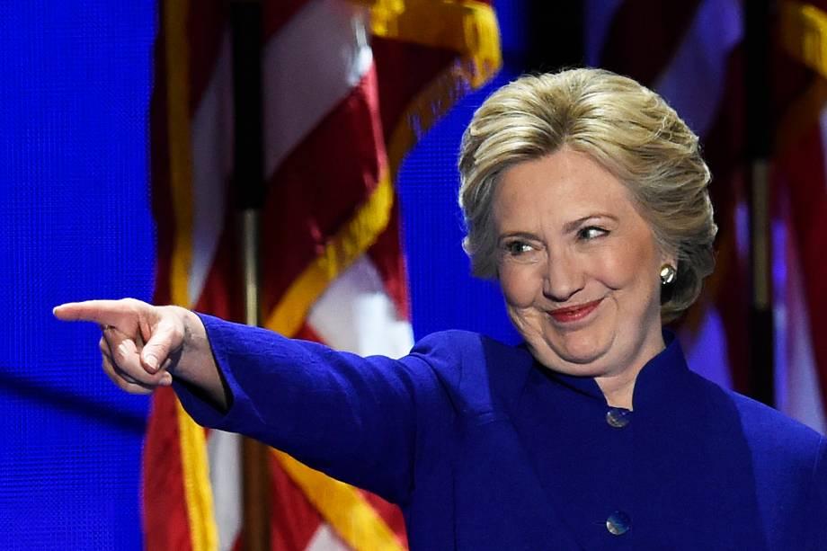 Hillary Clinton durante a Convenção Democrata, na Filadélfia