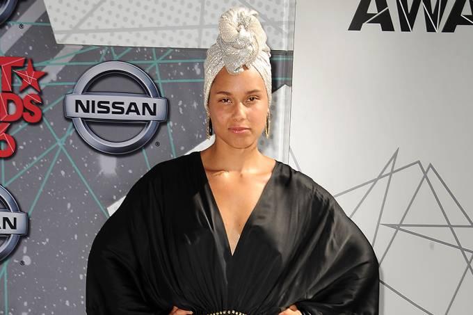 A cantora americana Alicia Keys
