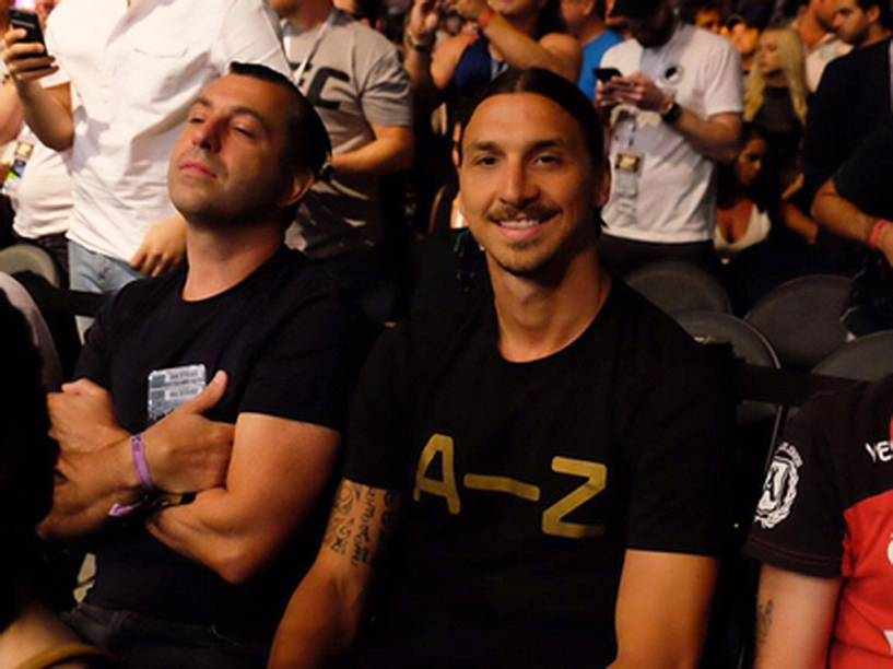 Ibrahimovic durante o UFC 200, na arena T-Mobile, em Las Vegas (EUA), na noite deste sábado (09)