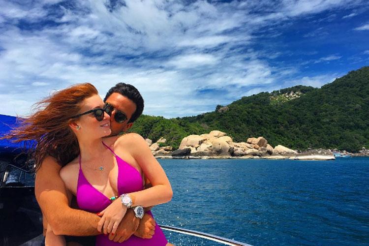Marina Ruy Barbosa disse sim ao namorado em viagem à Tailândia