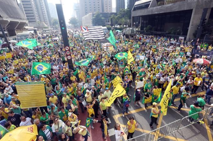 Manifestação na Avenida Paulista em São Paulo