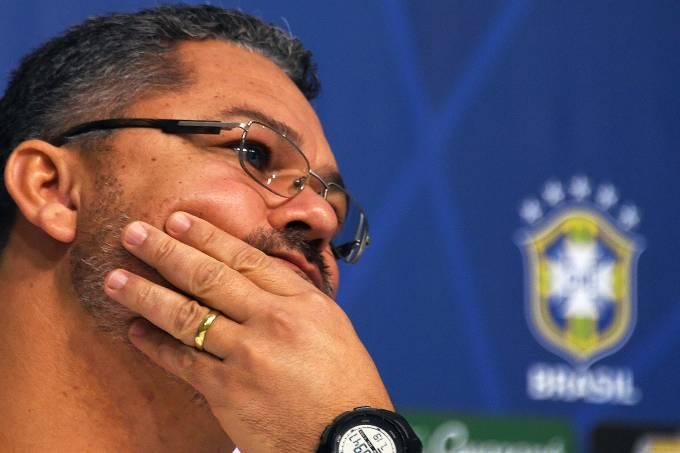 O técnico da Seleção Olímpica, Rogério Micale