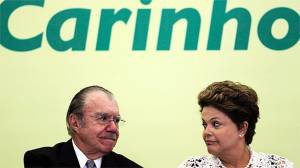 Sarney e Dilma: montados sobre uma crise sem fim