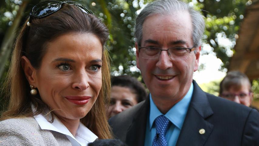 Eduardo Cunha e a esposa Cláudia Cruz