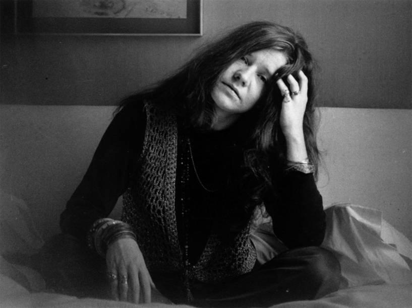 A cantora Janis Joplin em cena do documentário Janis: Little Girl Blue