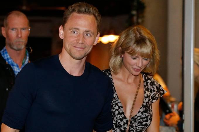 O ator Tom Hiddleston e a cantora Taylor Swift
