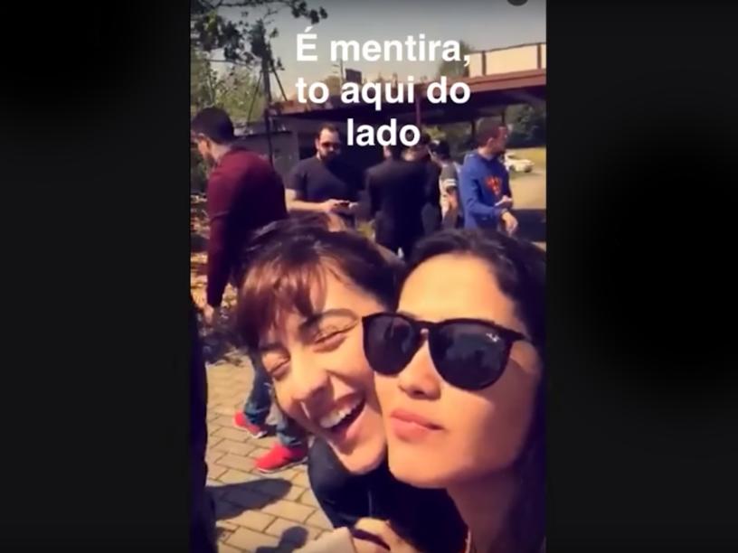 Thaynara Og e Maju Trindade, duas web celebridades que fizeram sucesso no aplicativo Snapchat
