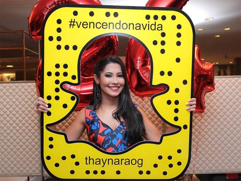 A snapchater Thaynara OG, fenômeno do Snapchat