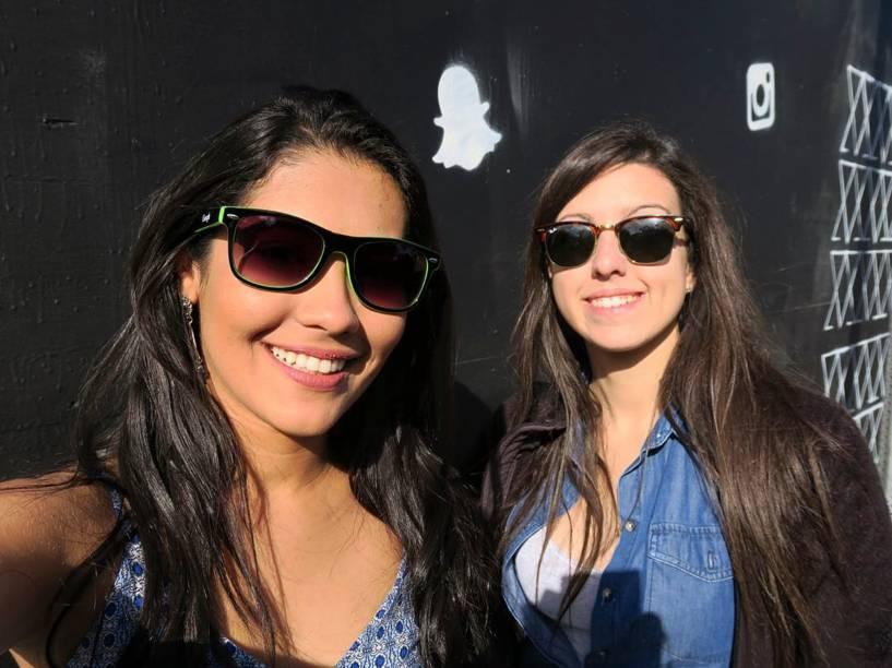 Thaynara com a empreendedora Bel Pesce, em São Francisco, Califórnia