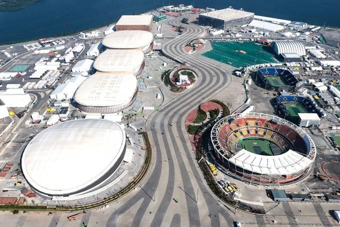 Vista aérea do Parque Olímpico no Rio de Janeiro
