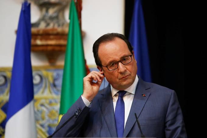 O chefe de Estado francês, François Hollande