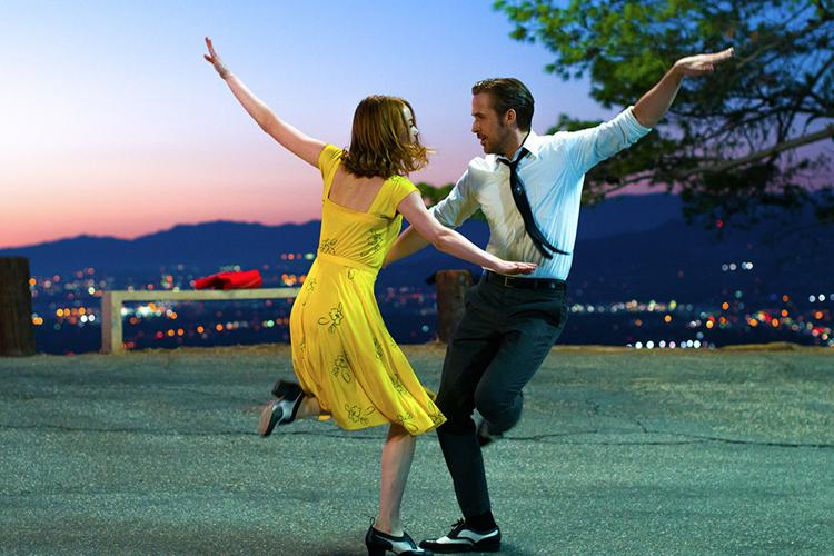Emma Stone e Ryan Gosling em 'La La Land'