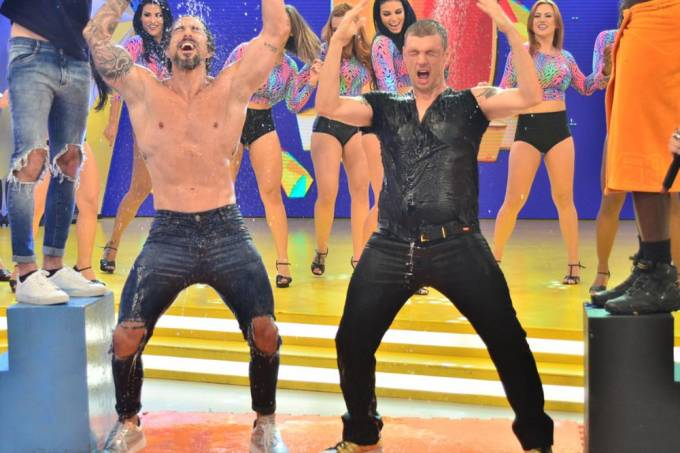 Marcos Mion e Nick Carter