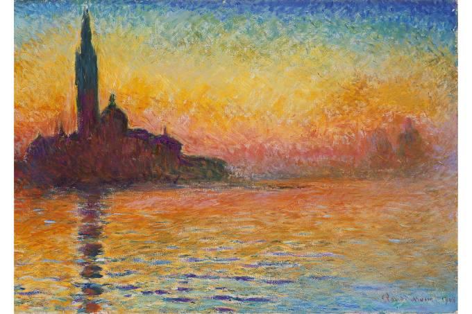 A pintura Saint-Georges Majeur de Claude Monet
