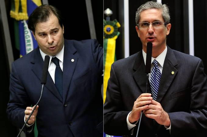 Os deputados Rodrigo Maia e Rogério Rosso