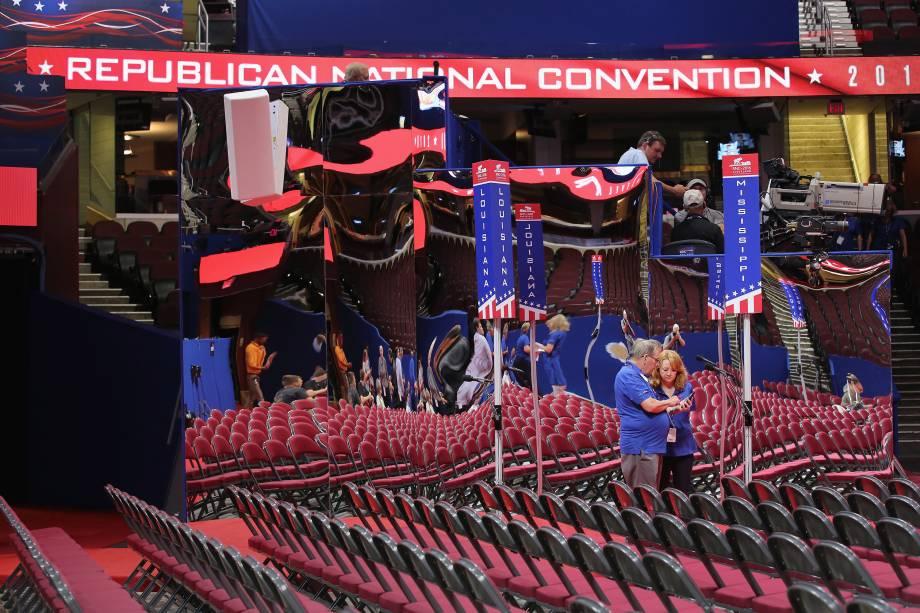 Quicken Loans Arena em Cleveland recebe a Convenção do Partido Republicano entre os dias 18 e 21 de julho