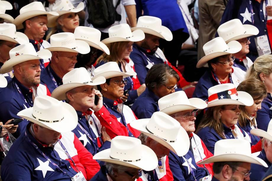 Membros da delegação do Texas, durante a Convenção Nacional do Partido Republicano americano, em Cleveland, Ohio (EUA) - 18/07/2016