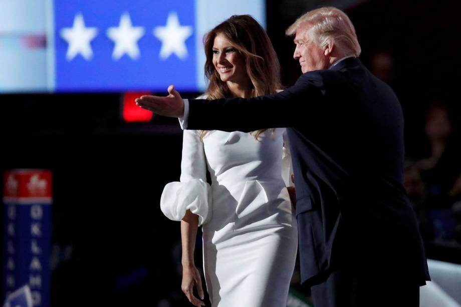 Melania Trump, esposa de Donald Trump, discursa durante Convenção Nacional do Partido Republicano americano, em Cleveland (EUA) - 18/07/2016