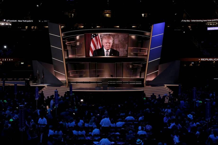 Donald Trump fala ao vivo, após ser nomeado candidato à presidência dos Estados Unidos pelo partido Republicano