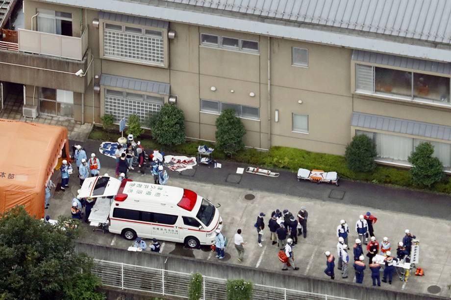 Vista aérea da cliníca de deficientes, em Sagamihara, no Japão. Ex-funcionário invadiu o local e matou 19 pessoas a facadas - 25/07/2016
