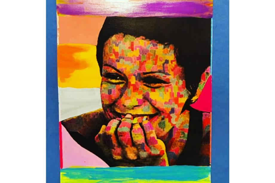 Quadro pintado pela cantora Rita Lee