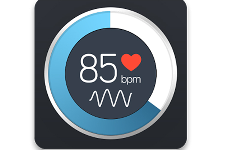 O aplicativo Instante Heart Rate, utilizado para registrar os batimentos cardíacos