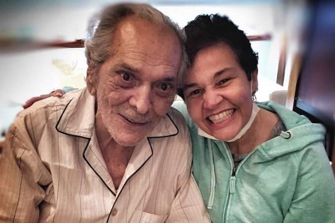 Lúcio Mauro e Claudia Rodrigues se reencontram